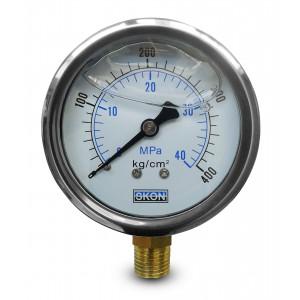 Glycerin-Manometer 400 bar