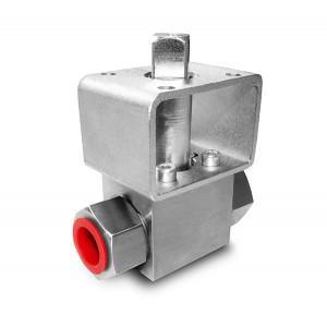 Hochdruckkugelhahn 1/4 Zoll SS304 HB22 Montageplatte ISO5211