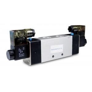 Magnetventil 4V420 5/2 bistabil 1/2 Zoll für Pneumatikzylinder 230V oder 12V, 24V