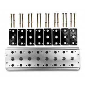 Kollektorplatte zum Anschluss von 8 Ventilen 1/4 Serie 4V2 4A Gruppe Ventilinsel 5/2 5/3