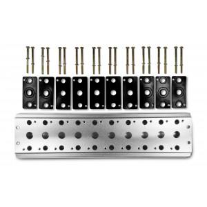 Kollektorplatte zum Anschluss von 10 Ventilen 1/4 Serie 4V2 4A Gruppe Ventilinsel 5/2 5/3