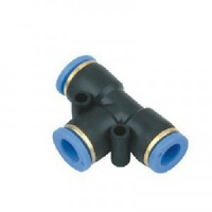 Stecknippel T-Stück PE08 Schlauch 8mm