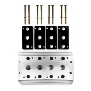Kollektorplatte zum Anschluss der 4-Ventil-Serie 4V2 4A Gruppen-Ventilinsel 5/2 5/3