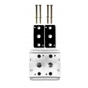 Kollektorplatte zum Anschluss von 2 Ventilen 1/4 Serie 4V2 4A Gruppe Ventilinsel 5/2 5/3