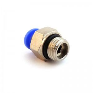 Stecknippel gerader Schlauch 12mm Gewinde 3/8 Zoll PC12-G03