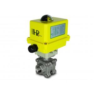 Edelstahlkugelhahn 3/4 Zoll DN20 PN125 mit elektrischem Antrieb A250