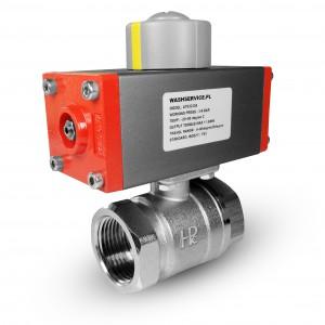 Messingkugelhahn 1/2 Zoll DN15 mit pneumatischem Antrieb AT32