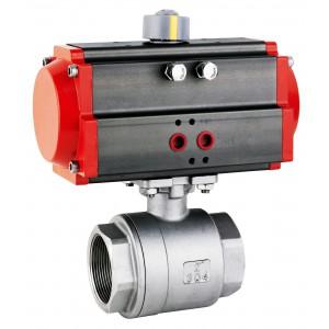Edelstahlkugelhahn 1 1/2 Zoll DN40 mit pneumatischem Antrieb AT63