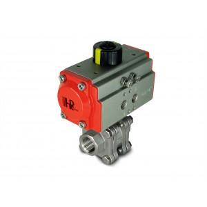 Edelstahlkugelhahn 3/4 Zoll DN20 PN125 mit pneumatischem Antrieb AT52