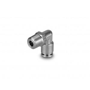 Stecknippel abgewinkelt Edelstahlschlauch 8mm Gewinde 1/4 Zoll PLSW08-G02