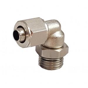 Schnellverschraubungen für Rohr 6/4 mit Gewindebogen 1/8 Zoll RPL 6/4-G01