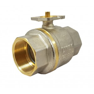 Kugelhahn 2 Zoll DN50 PN25 Montageplatte ISO5211