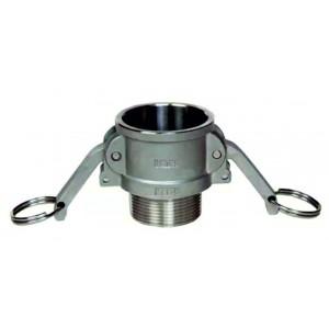 Camlock-Anschluss - Typ B 1/2 Zoll DN15 SS316