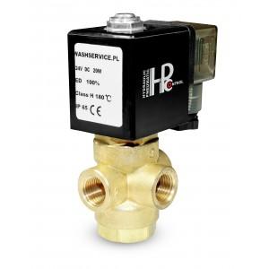 3-Wege-Magnetventil 3V 3x1 / 4 Zoll 230V 24V 12V