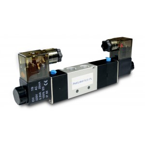 Magnetventil 5/3 4V430C 1/2 Zoll für pnumatische Aktuatoren 230V oder 12V, 24V