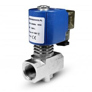 Magnetventil für Dampf RV15 1/2 Zoll 180C