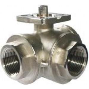 3-Wege-Kugelhahn 1 Zoll DN25 Montageplatte ISO5211 industriell