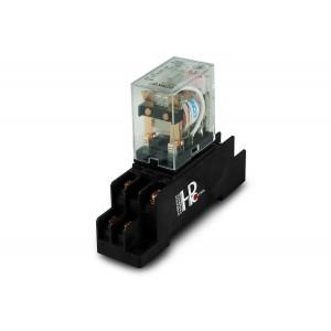 Relais 10A 2x Schließer / Öffner mit Sockel zur Montage auf einer Hutschiene