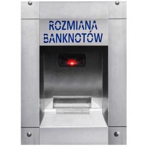 Geldwechsler von Banknoten zu Münzen