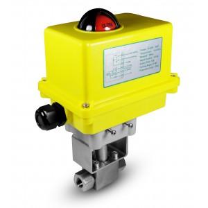 Hochdruckkugelhahn 1/4 Zoll SS304 HB22 mit elektrischem Antrieb A250