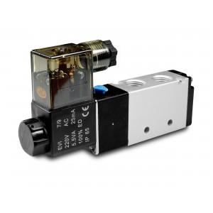 Magnetventil 5/2 4V410 1/2 Zoll für Pneumatikzylinder 230V oder 12V, 24V