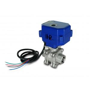 Kugelhahn 1/2 Zoll Edelstahl PN125 mit elektrischem Antrieb A80 oder A82