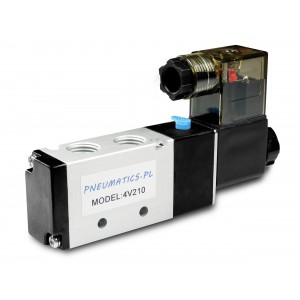 Magnetventil an Pneumatikzylinder 4V210 5/2 1/4 230V 12V 24V