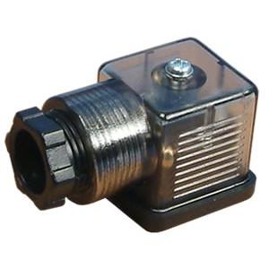Stecker auf Magnetventil 18mm DIN 43650 mit LED