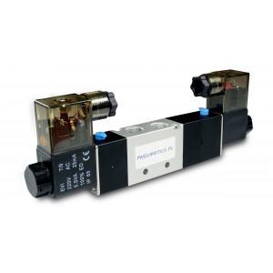 Magnetventil 4V230C 5/3 1/4 Zoll für Pneumatikzylinder 230V oder 12V, 24V