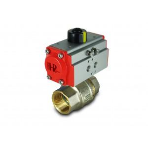 Messingkugelhahn 1 1/2 Zoll DN40 mit pneumatischem Antrieb AT52