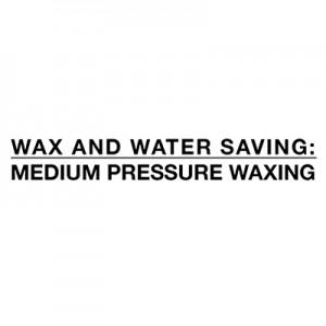 Wasser und Wachs sparen - Wachsender Mitteldruck