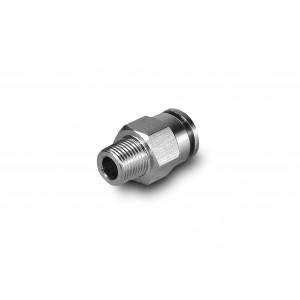Stecknippel gerade Edelstahlschlauch 8mm Gewinde 1/8 Zoll PCSW08-G01